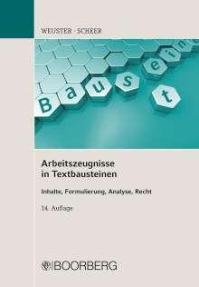 Arnulf Weuster: Arbeitszeugnisse in Textbausteinen, Buch