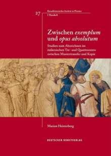 """Marion Heisterberg: Zwischen """"exemplum"""" und """"opus absolutum"""", Buch"""
