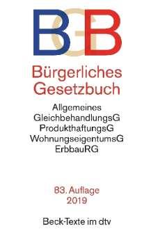 Bürgerliches Gesetzbuch (BGB). Textausgabe mit ausführlichem Sachregister, Buch