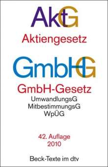 Aktiengesetz, GmbH-Gesetz, Buch
