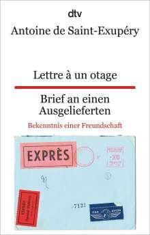 Antoine de Saint-Exupéry: Lettre à un otage, Brief an einen Ausgelieferten, Buch