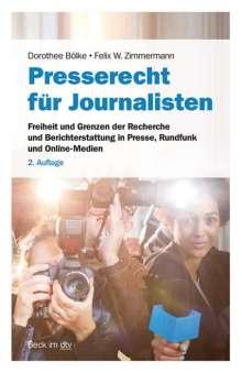 Dorothee Bölke: Presse- und Medienrecht für Journalisten, Buch