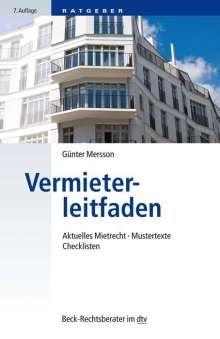 Günter Mersson: Vermieterleitfaden, Buch