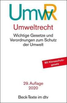 Umweltrecht (UmwR), Buch