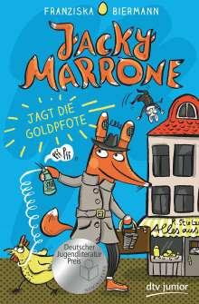 Franziska Biermann: Jacky Marrone jagt die Goldpfote, Buch