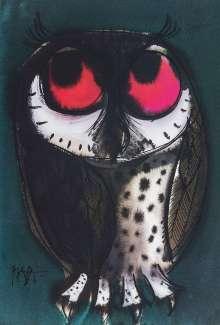 Celestino Piatti: Piatti Postkarte Eule mit großen Augen VE 1=10, Diverse