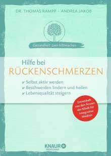 Thomas Rampp: Hilfe bei Rückenschmerzen, Buch