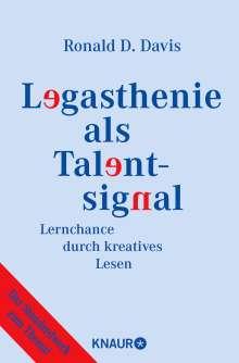 Ronald D. Davis: Legasthenie als Talentsignal, Buch