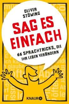 Oliver Stöwing: Sag es einfach, Buch