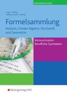 Jens Helling: Formelsammlung. Kerncurriculum Mathematik Niedersachsen Fachgymnasien/ Berufliche Gymnasien, Buch