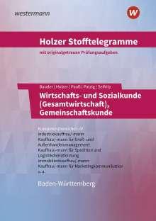Volker Holzer: Holzer Stofftelegramme - Wirtschafts- und Sozialkunde (Gesamtwirtschaft), Gemeinschaftskunde. Kompetenzbereiche I-IV. Aufgabenband. Baden-Württemberg, Buch
