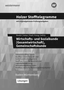 Volker Holzer: Holzer Stofftelegramme - Wirtschafts- und Sozialkunde (Gesamtwirtschaft), Gemeinschaftskunde. Kompetenzbereiche I-IV. Lösungen. Baden-Württemberg, Buch