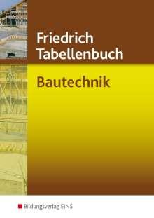 Karl-Jürgen Gipper: Friedrich - Tabellenbuch Bautechnik, Buch