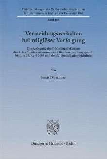 Jonas Dörschner: Vermeidungsverhalten bei religiöser Verfolgung, Buch