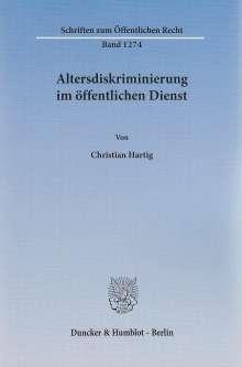 Christian Hartig: Altersdiskriminierung im öffentlichen Dienst, Buch