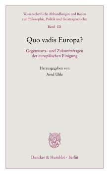 Quo vadis Europa?, Buch