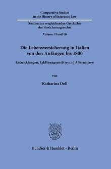 Katharina Doll: Die Lebensversicherung in Italien von den Anfängen bis 1800, Buch