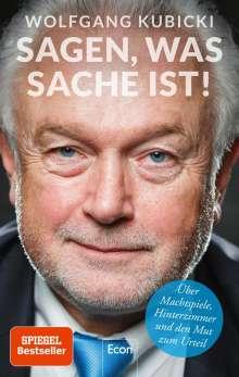Wolfgang Kubicki: Sagen, was Sache ist, Buch