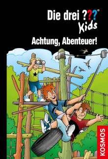 Boris Pfeiffer: Die drei ??? Kids, 79, Achtung, Abenteuer!, Buch
