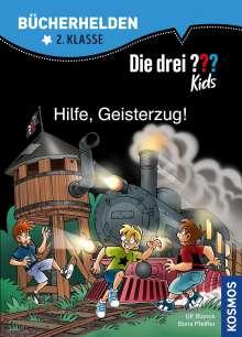 Ulf Blanck: Die drei ??? Kids, Bücherhelden, Hilfe, Geisterzug!, Buch