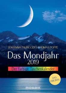 Johanna Paungger: Das Mondjahr 2019. Der farbige Taschenkalender, Diverse