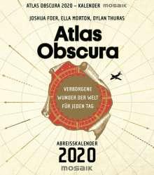 Joshua Foer: Atlas Obscura - Abreißkalender 2020, Diverse