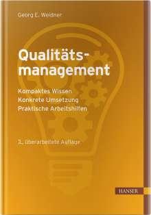 Georg Emil Weidner: Qualitätsmanagement, Buch