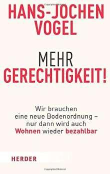 Hans-Jochen Vogel: Mehr Gerechtigkeit!, Buch