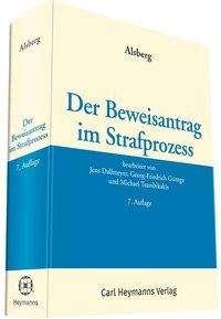 Jens Dallmeyer: Der Beweisantrag im Strafprozess, Buch