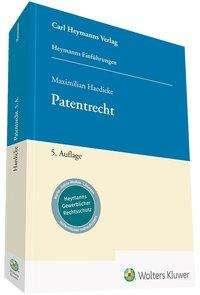 Maximilian Haedicke: Patentrecht, Buch