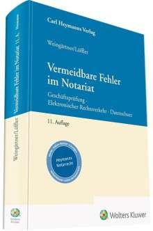 Sebastian Löffler: Vermeidbare Fehler im Notariat, Buch