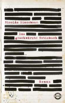 Nicolas Giacobone: Das geschwärzte Notizbuch, Buch