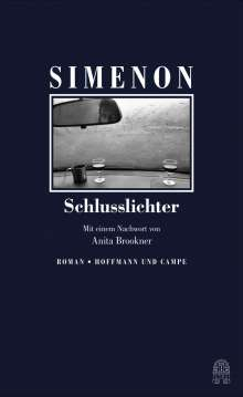 Georges Simenon: Schlusslichter, Buch