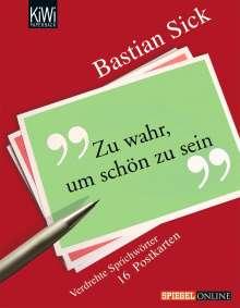 Bastian Sick: Zu wahr, um schön zu sein. 16 Postkarten, Buch