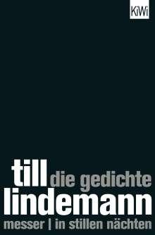 Till Lindemann: Die Gedichte, Buch