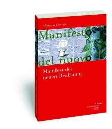 Maurizio Ferraris: Manifest des neuen Realismus, Buch