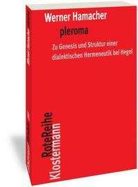 Werner Hamacher: pleroma, Buch