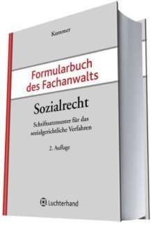Peter Kummer: Formularbuch des Fachanwalts Sozialrecht, Buch