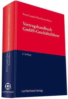 Uwe Langohr-Plato: Vertragshandbuch GmbH-Geschäftsführer, Buch