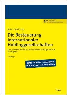 Axel D. Bader: Die Besteuerung internationaler Holdinggesellschaften, 1 Buch und 1 Diverse