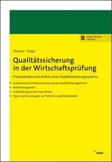 Reiner Deussen: Qualitätssicherung in der Wirtschaftsprüfung, 1 Buch und 1 Diverse
