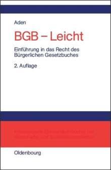 Menno Aden: BGB - Leicht, Buch