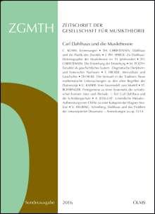 ZGMTH - Zeitschrift der Gesellschaft für Musiktheorie - Sonderausgabe 2016., Buch