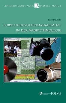 Barbara Alge: Forschungsdatenmanagement in der Musikethnologie, Buch