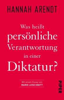 Hannah Arendt: Was heißt persönliche Verantwortung in einer Diktatur?, Buch