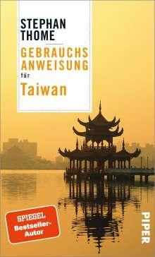 Stephan Thome: Gebrauchsanweisung für Taiwan, Buch