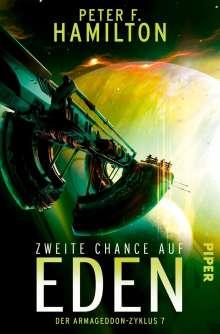 Peter F. Hamilton: Zweite Chance auf Eden, Buch