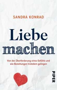 Sandra Konrad: Liebe machen, Buch