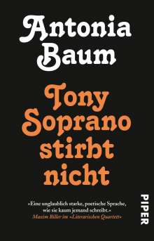 Antonia Baum: Tony Soprano stirbt nicht, Buch
