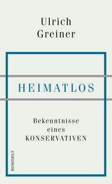 Ulrich Greiner: Heimatlos, Buch